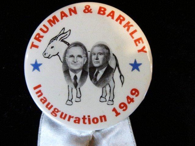 Truman and Barkley Political Button