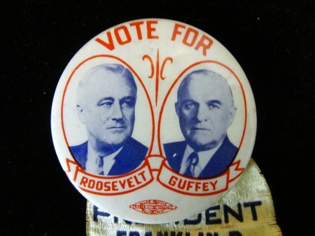 Roosevelt and Guffy Political Button