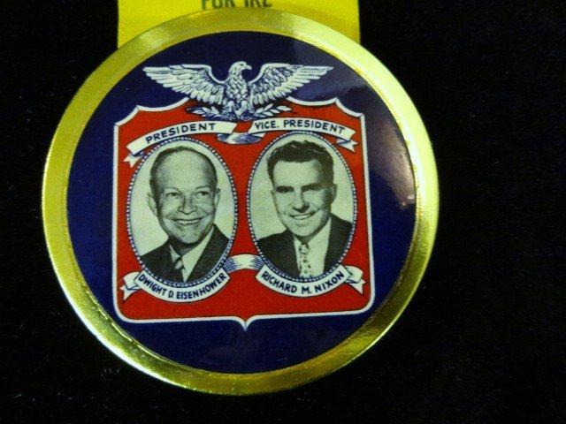 Eisenhower and Nixon Political Button