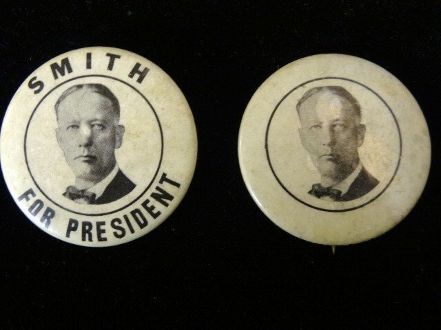 Two Al Smith Political Buttons