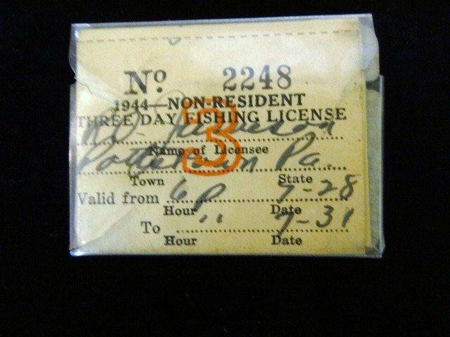 1944 Non-resident Fishing License