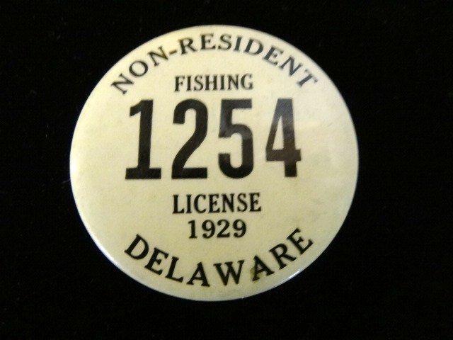 1929 Delaware Non-resident Fishing License