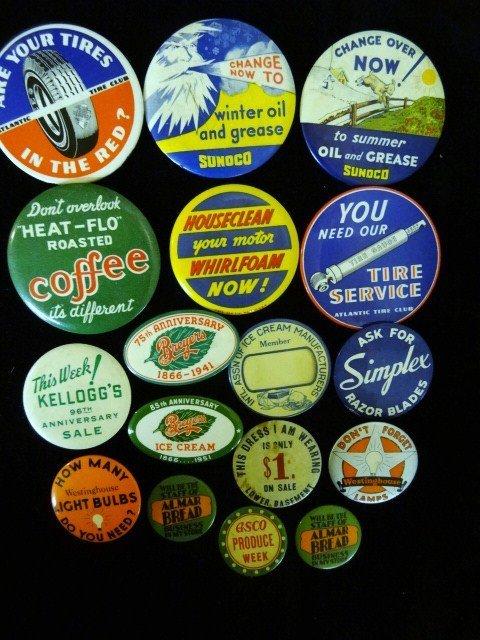 Large Lot Advertising Pins