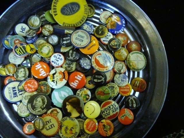 Group of Vintage Pinback Buttons