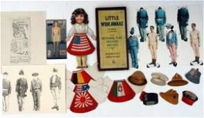 Military Group Paper Dolls