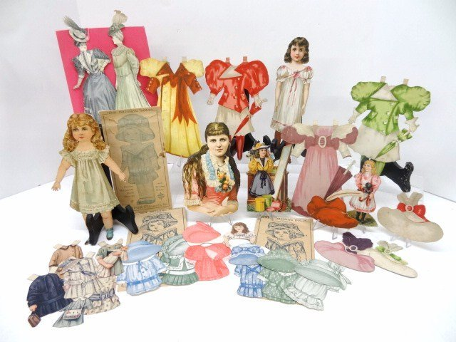 Grouping Vintage Paper Dolls