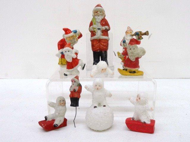 Snowbabies and Bisque Santas