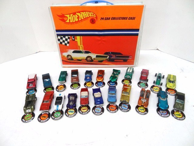 Twenty-two Hot Wheels Red Line Cars w/Collectors Case
