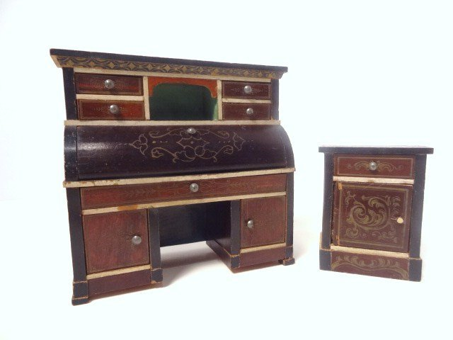 Antique German Desk and Stand