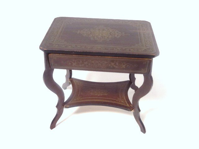 Antique Boulle Sewing Table