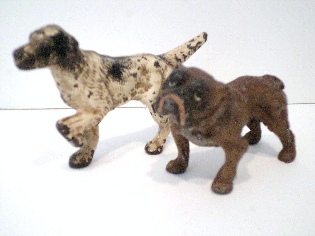 Pair of Vintage Metal Dogs