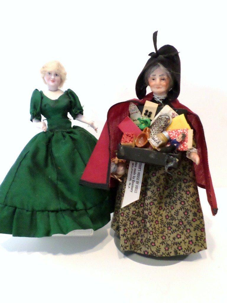 Vintage Peddler Doll and Princess Diana