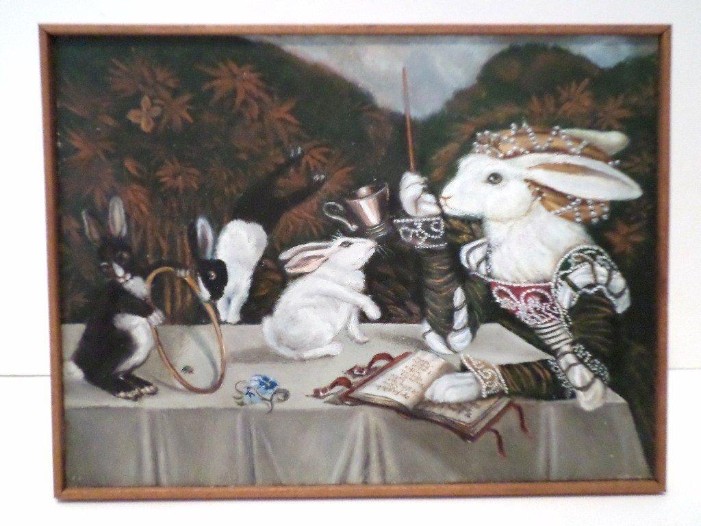 Marjorie Adams Rabbit Painting