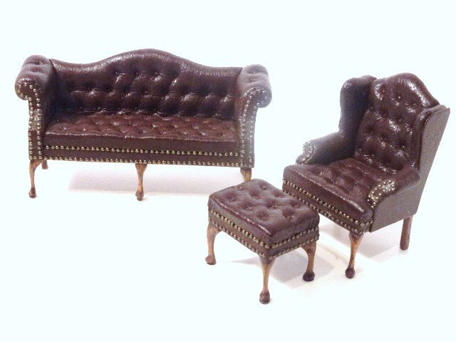 Gail Steffey Half-Scale Leather Furniture