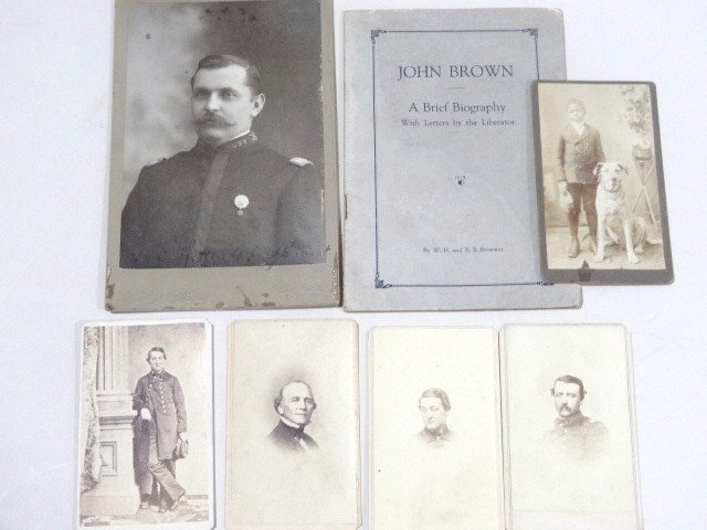 Civil War Officer CDV's and John Brown Pamphlet