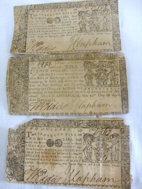 Maryland 1774 Colonial Currency