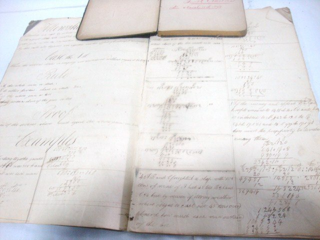 1878 Handwritten Journal Ship Travel and 1825 School