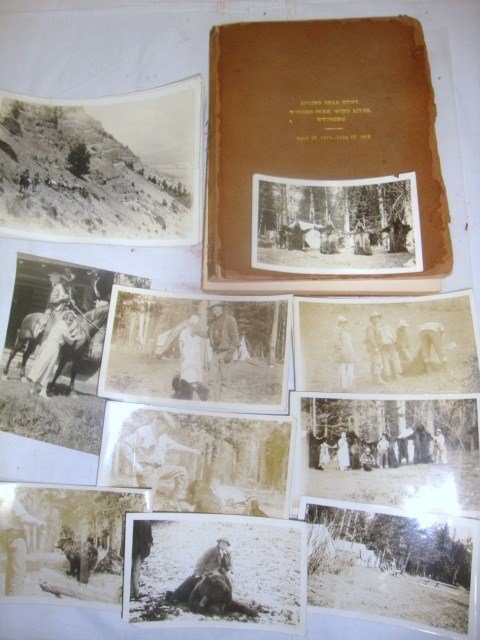 1918 Wyoming Bear Hunt Journal and Photos