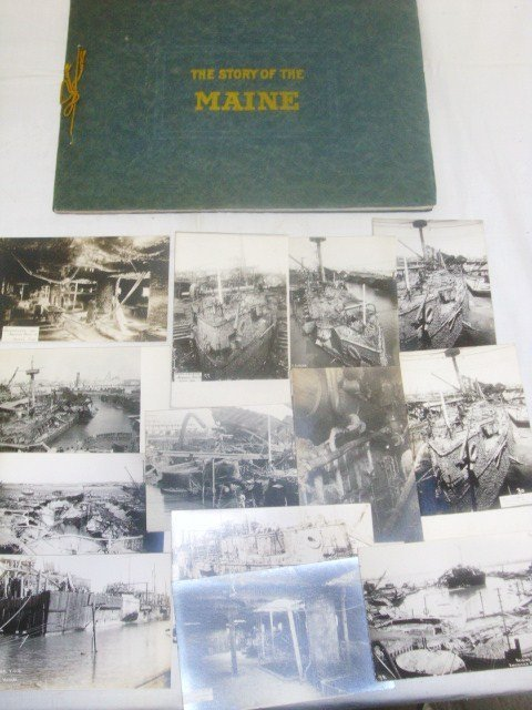 Raising U.S.S. Maine 1911-1912 Postcards and Photo Book