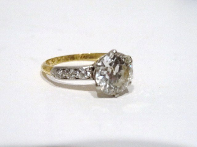 Vintage 1905 2.ct Platinum Tiffany Diamond Ring