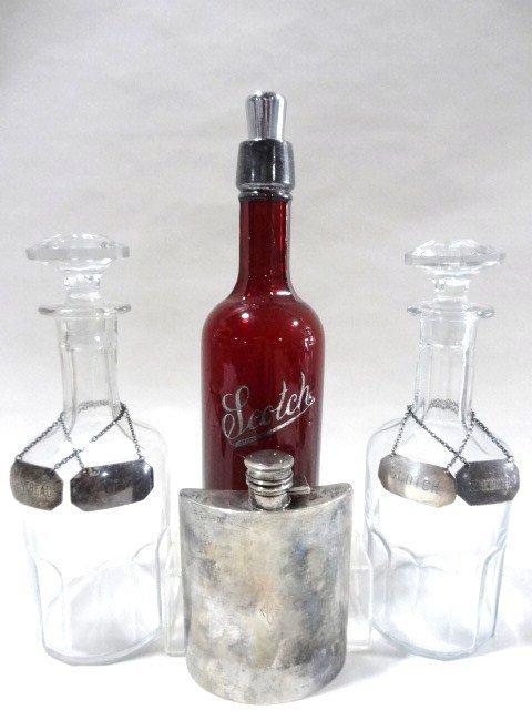 Sterling Flask & Bar Bottles