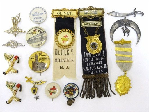 Vintage Colonial Dames Medal, Masonic Medals