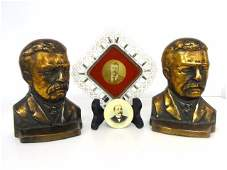 Teddy Roosevelt Book Ends and Others