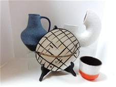 Four Pieces MidCentury Pottery