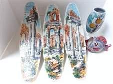 Five Pieces MidCentury Art Pottery