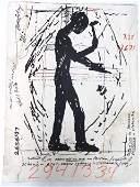 Jonathan Borofsky Screen Print