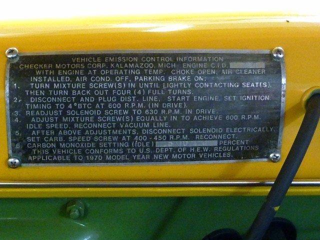 1969/1970 Checker Marathon Taxi Cab - 5
