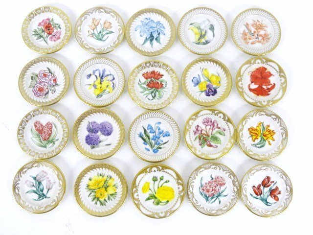 Miniature Royal Dutch Floral Plates