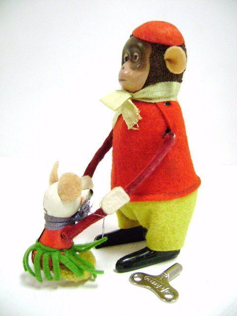 Schuco Dancing Monkey with Mouse Partner