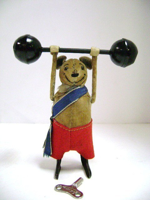 Schuco Mouse Weightlifter