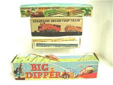 Four Vintage Tin Trains
