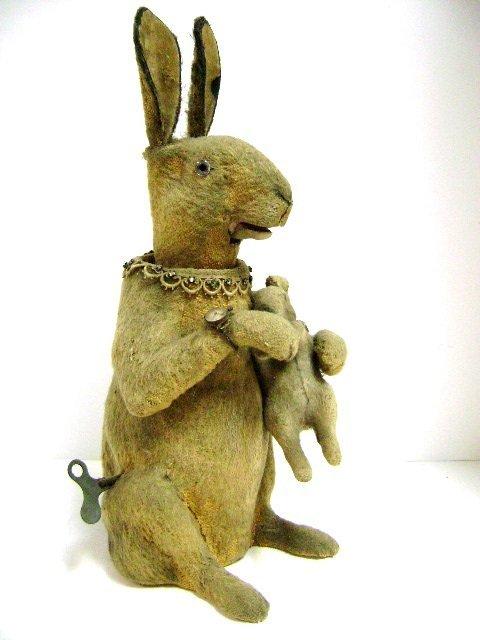 Extra Large Clockwork Rabbit Nodder Trade Stimulator