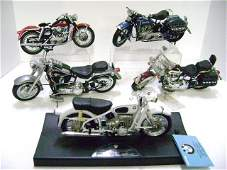 Two Franklin Mint 1/10 Scale Motorcycles plus Others