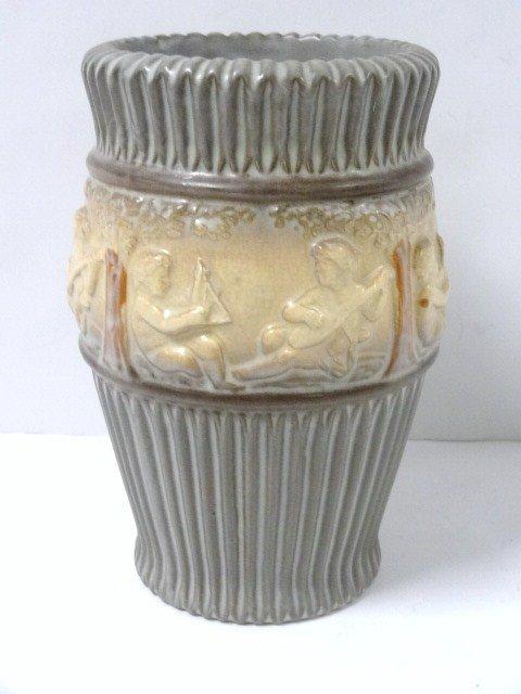 Unusual Gray Roseville Donatello Vase