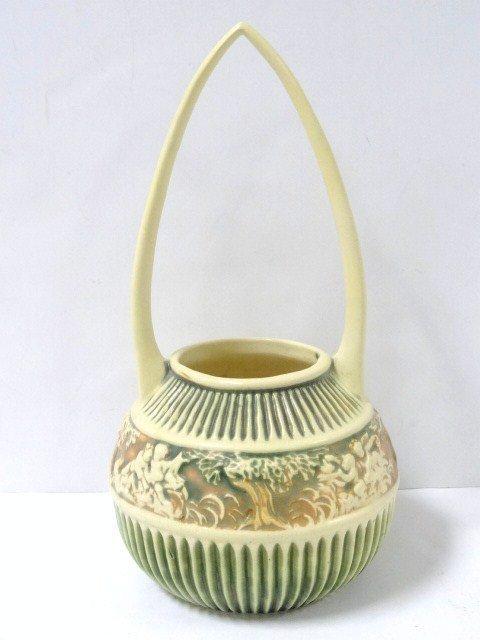 Roseville Pottery Donatello 14 in. Basket