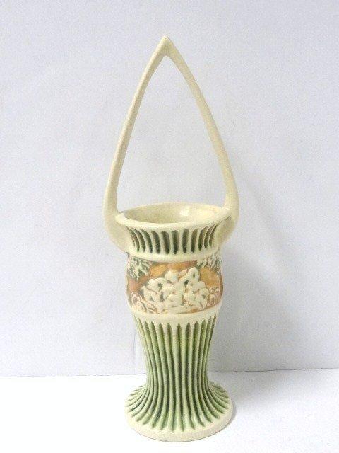 Roseville Pottery Donatello 14 in tall Basket