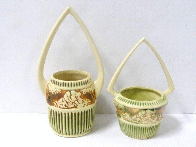 Pair of Roseville Donatello Baskets
