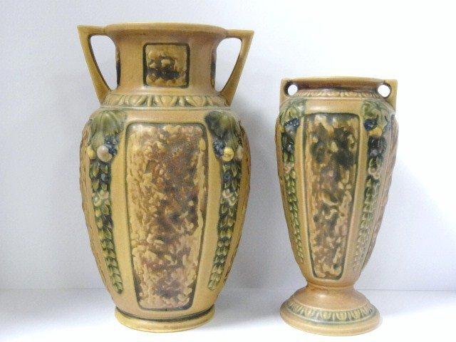Pair Roseville Florentine Vases