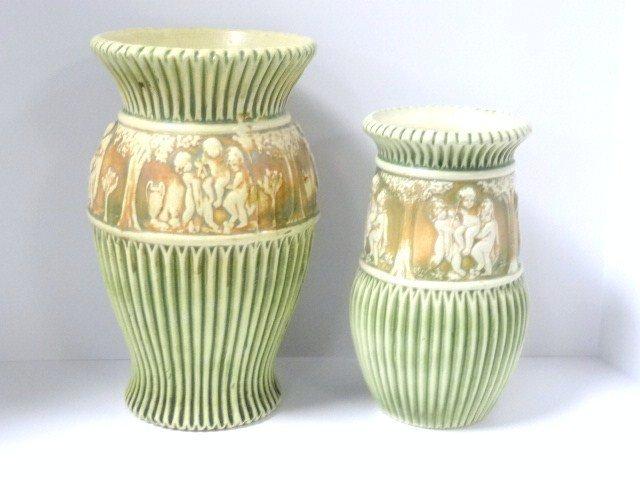 Pair of Roseville Donatello Vases
