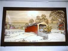 Aaron Zook  Winter Memories  Carved Diorama