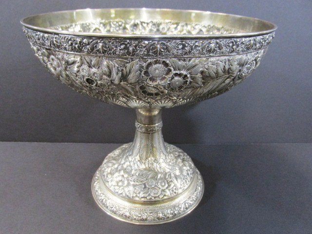 Large Tiffany Sterling Compote