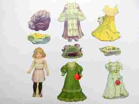Raphael Tuck Dolly's Dainty Dresses 4 Sets