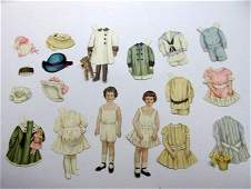 Assortment of Early Paper Dolls