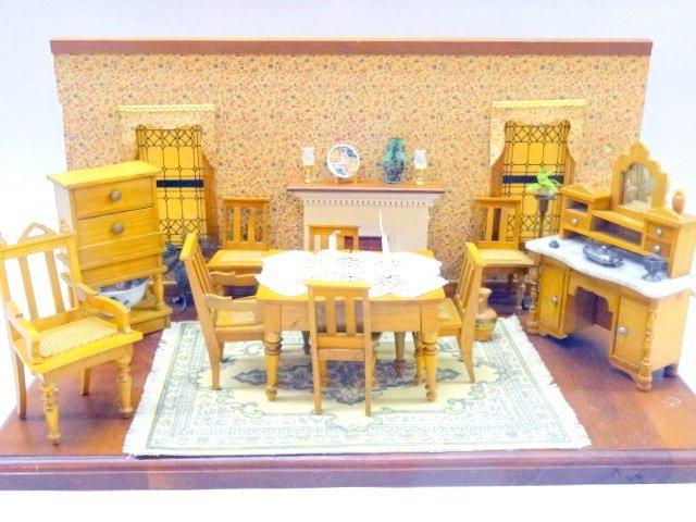 Schneegas Dollhouse Furniture in Plexiglass Roombox
