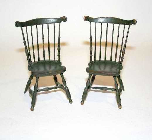 Pair of James Ison Chairs Dollhouse Miniatures