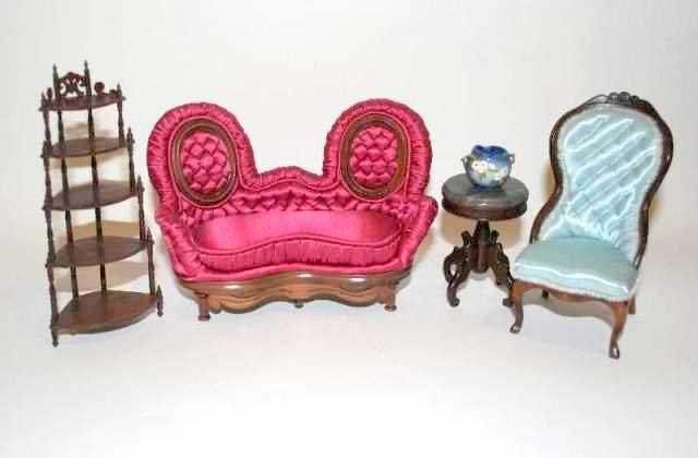 Victorian Parlor Furniture Dollhouse Miniatures